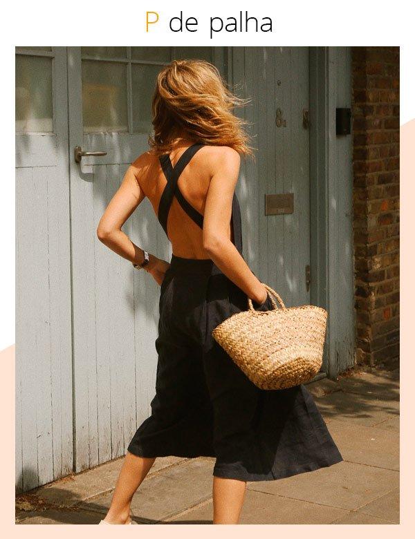 Lucy Williams - vestido-preto - palha - verão - street-style