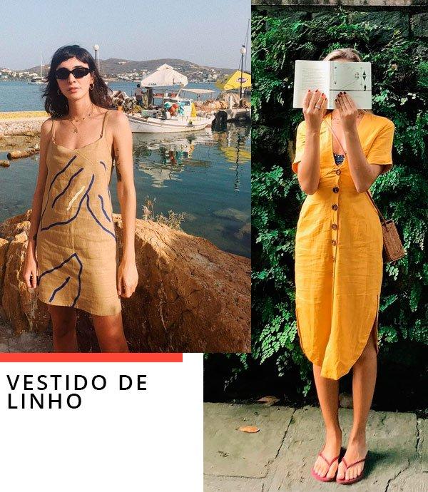 Luisa Meirelles e Angelica Bucci - vestido-linho - linho - verão - street-style