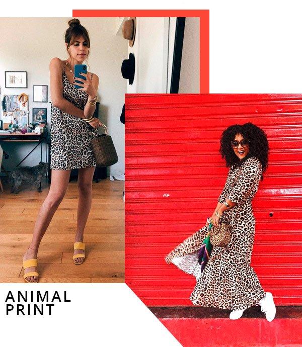 Luiza Brasil e Catharina Dieterich - vestido-onça - animal print - verão - street-style