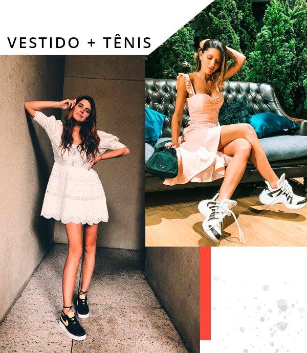 Manuela Bordasch e Giordana Serrano - vestido-e-tenis - tênis - verão - street-style