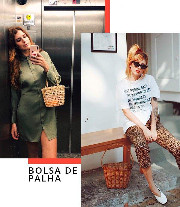 Manuela Bordasch e Aline Santos - bolsa-de-palha - palha - verão - street-style