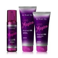 Kit Lowell Liso Mágico Shampoo 240ml + Condicionador 200ml + Fluido Termoativado 200ml - Incolor