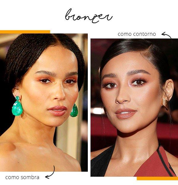 bronzer - moda - usar - dois - jeito