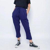 Calça Elástico Azul Tamanho: G - Cor: Azul