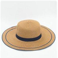 FLAT STRAW HAT
