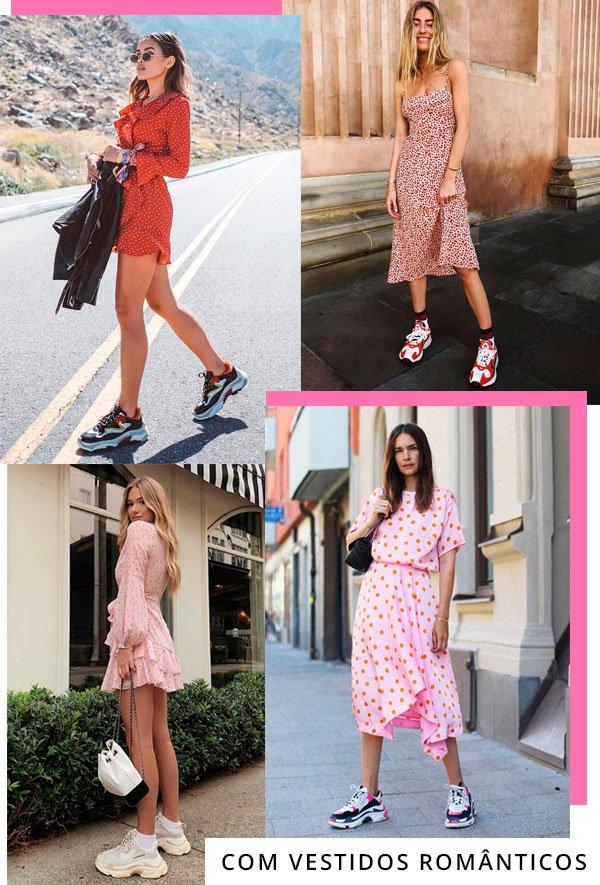 Jill Wallace, Emili Sindlev - vestido-com-tenis - dad sneakers - verão - street-style