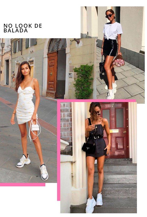 Gizele Oliveira, Kenza Subosic - vestido-e-tenis - dad sneakers - verão - street-style