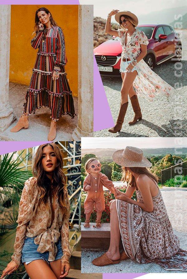 estampas - coloridos - boho - trend - looks