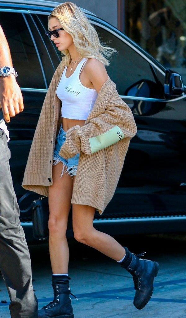 hailey - baldwin - look - moda - street style