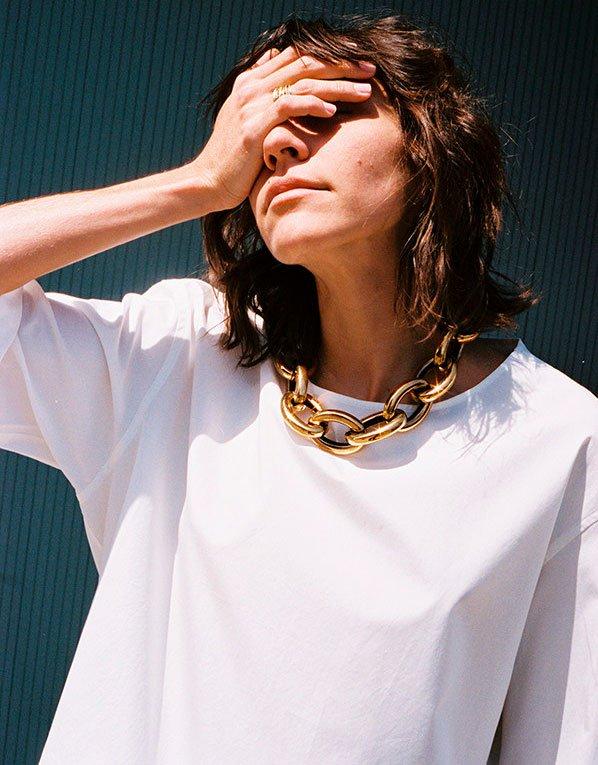 Maryam Nassir - colar-corrente - corrente - verão - street-style