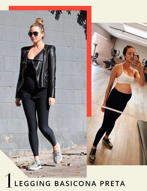 Chrissy Teigen, Chriselle Lim - legging-preta - legging - verão - street-style