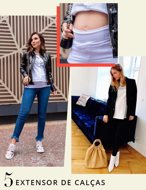 Lala Noleto, Pernille Teisbaek - calça-jeans - grávidas - verão - street-style