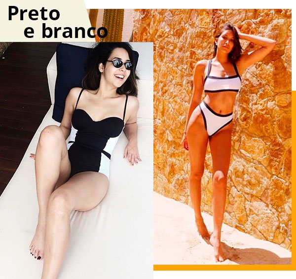 preto - branco - biquini - beachwear - tendencia
