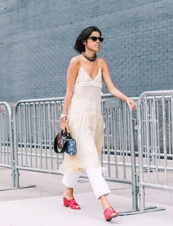 Leandra Medine - vestido-calça - vestido - verão - street-style
