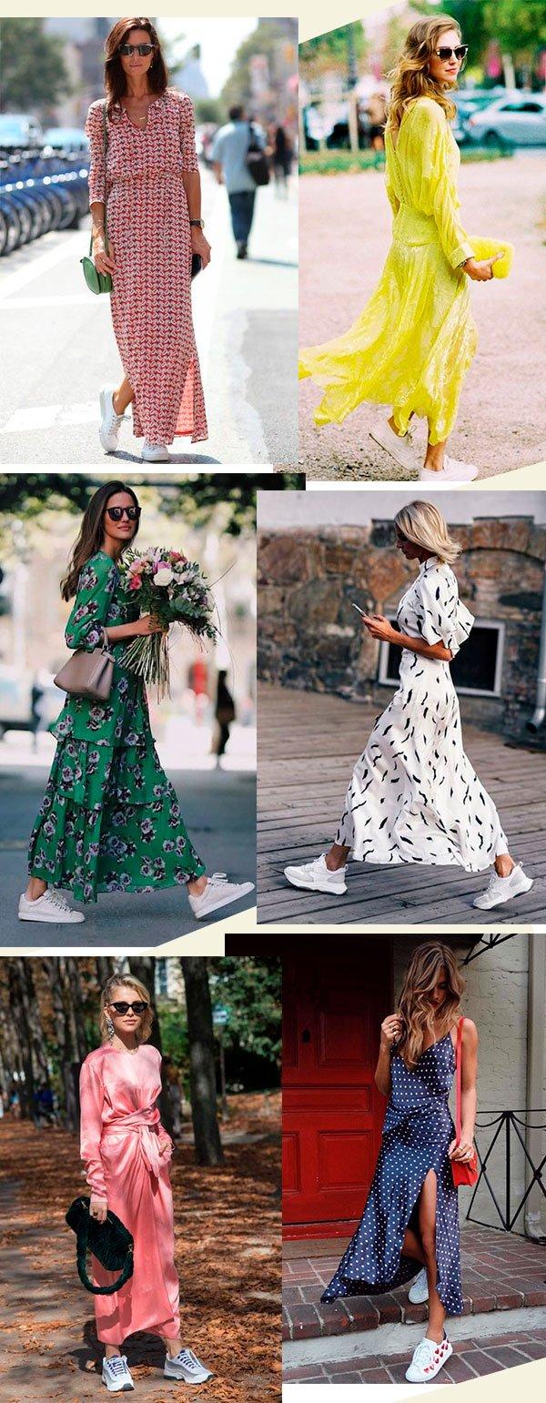 vestido - festa - tenis - looks - moda