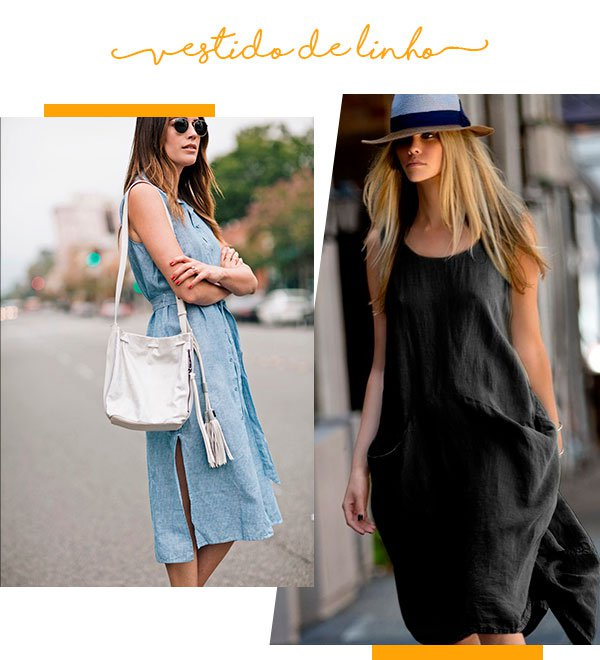 vestido - linho - moda - look - verao