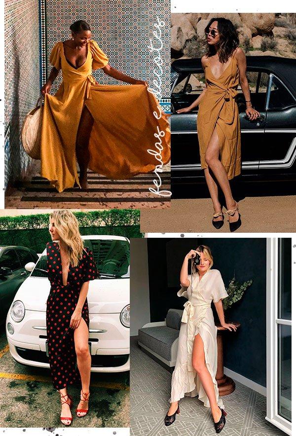 vestido - midi - wrap - looks - street style