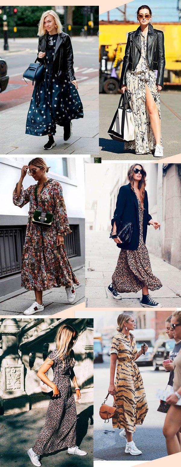 vestido - tenis - looks - moda - verao