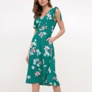 Vestido Floral com Amarração nas Alças