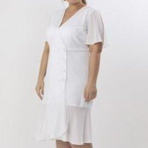 Vestido Midi em Crepe Curve & Plus Size
