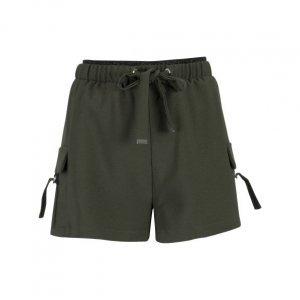 Shorts Curto Crepe Com Bolsos