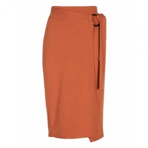Midi Skirt Knit With Belt