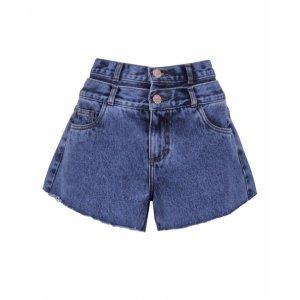 Shorts Jeans Cós Duplo