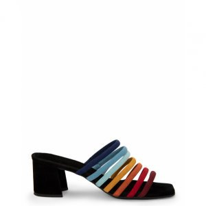 Multicolored Mule Sandals