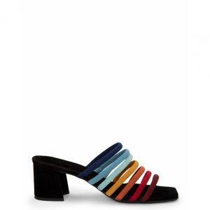 Sandália Mule Tiras Coloridas
