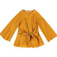 Blusa Estampada De Poá Em Tecido De Viscose