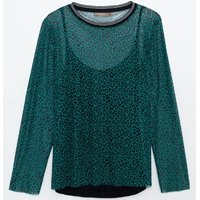 BLUSA ANIMAL PRINT VERDE CURVE & PLUS SIZE