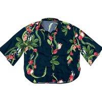 Camisa De Tecido Maquinetado Estampado