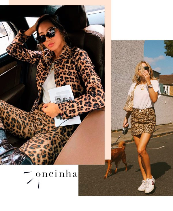 Aimee Song, Lucy Williams - oncinha - animal print - verão - street-style