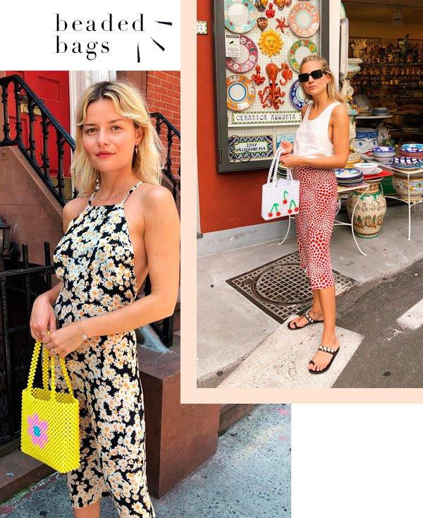 Sabina Socol, Lucy Williams - bolsa - beaded bag - verão - street-style