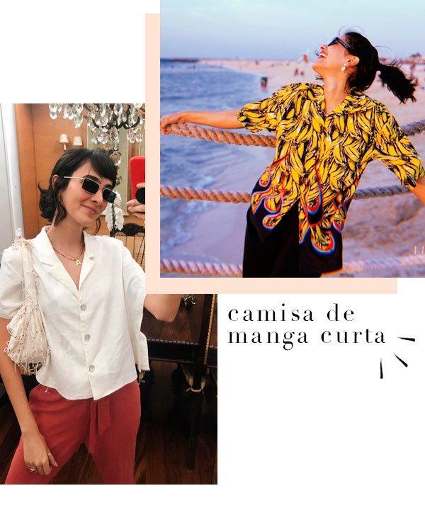 Angelica Bucci, Anum Bashir - camisa - camisa - verão - street-style