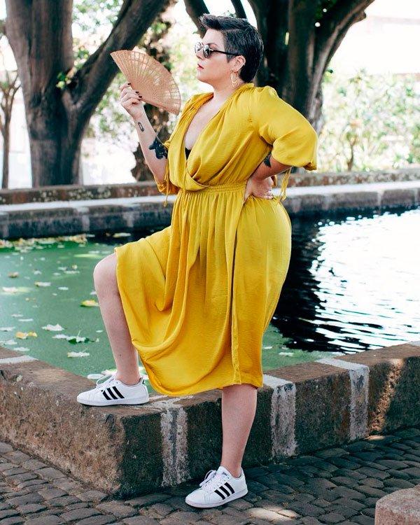 Luiza Junqueira - vestido-e-tenis - tênis - verão - street-style