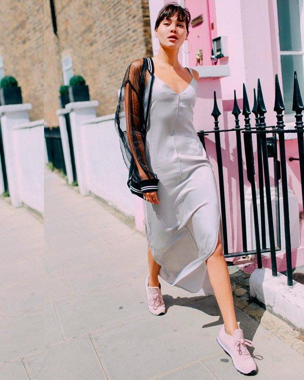 Natalie Lim Suarez - vestido-e-tenis - tênis - verão - street-style
