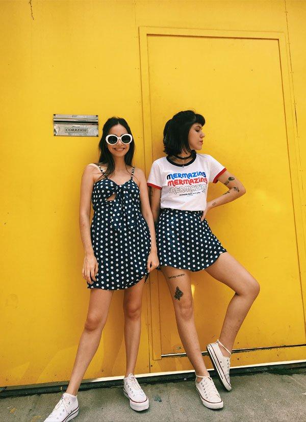 Julia Abud e Giovana Marçon - jeans - jeans - verão - street style 2018