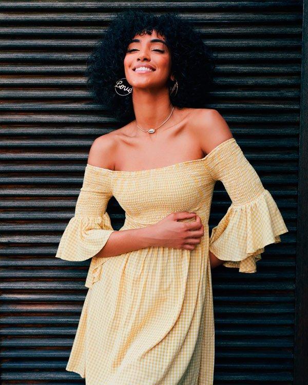 Hellen França - vestido-ciganinha - amarelo - verão - street-style
