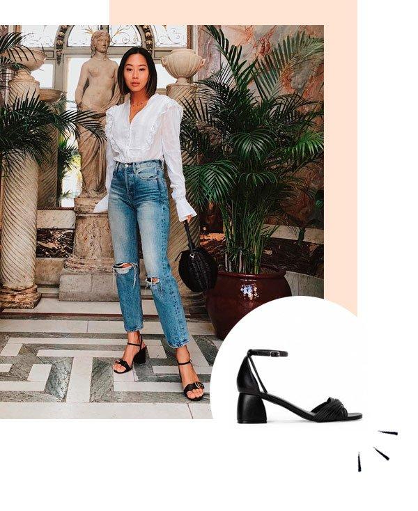 Aimee Song - sandalia-preta - sapatos - verão - street-style