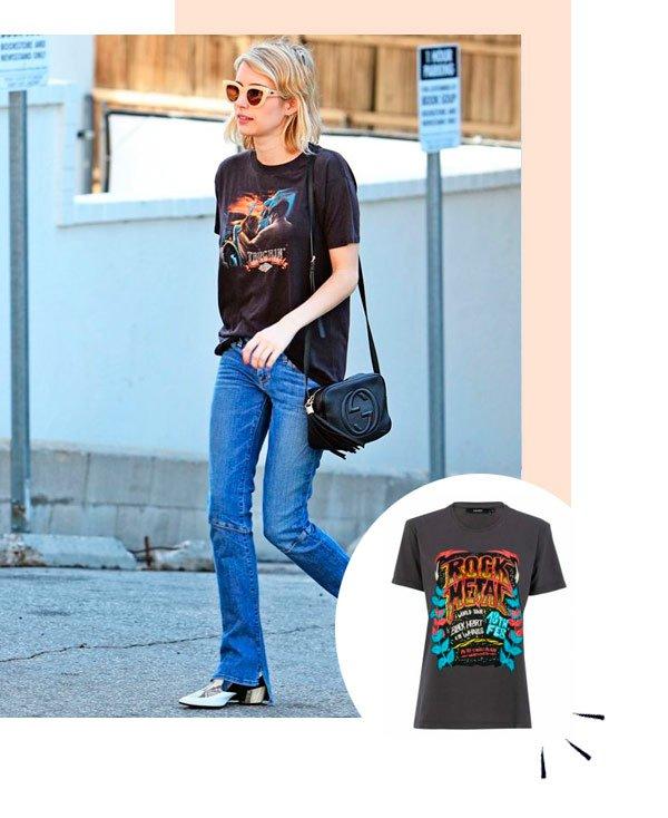 Emma Roberts - t-shirt - t-shirt - verão - street-style