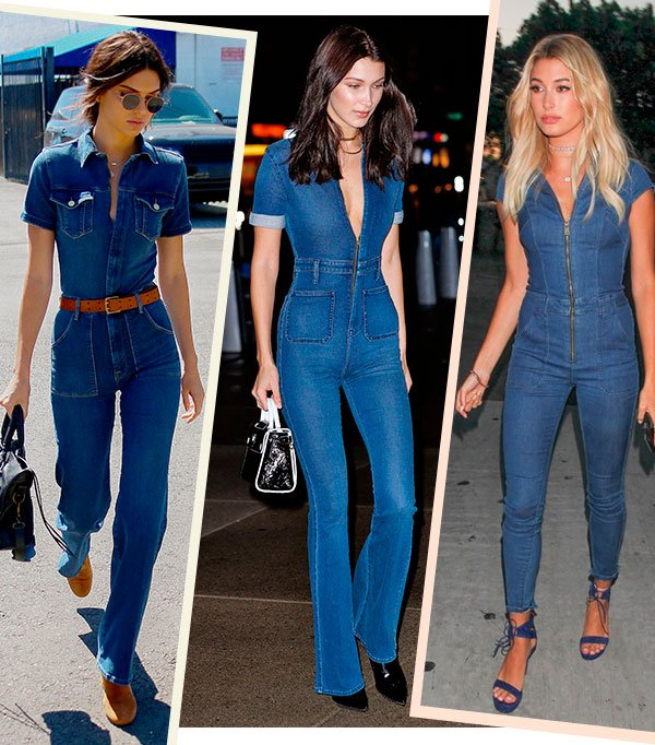 kendall - bella - hailey - macacao - jeans