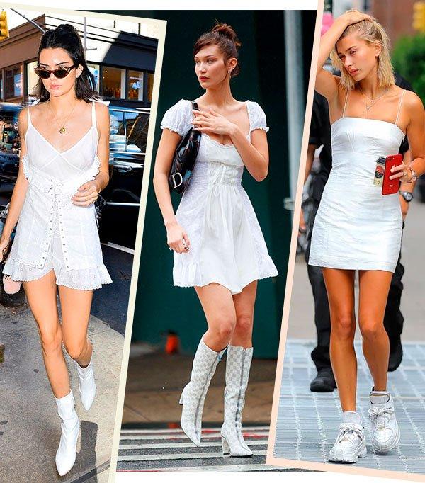vestido - branco - looks - bella - kendall