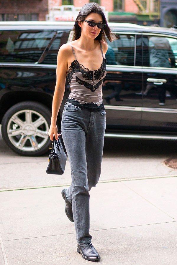 Kendall Jenner - regata-jeans - jeans - verão - street-style