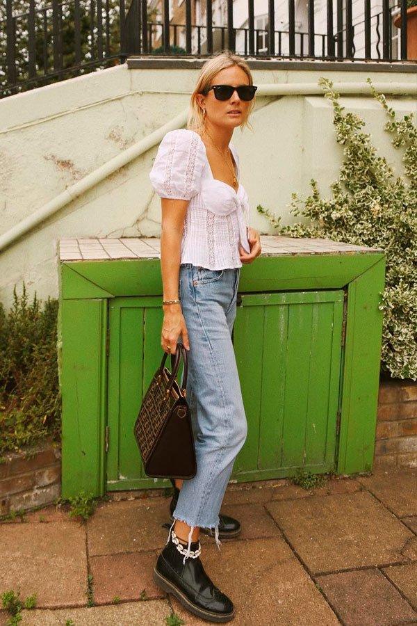Lucy Williams - blusa-branca-calça-jeans - jeans - verão - street-style