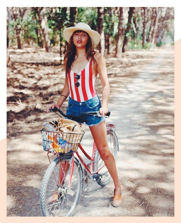 Natalie Lim Suarez - maio-short-jeans - maiô - verão - street-style
