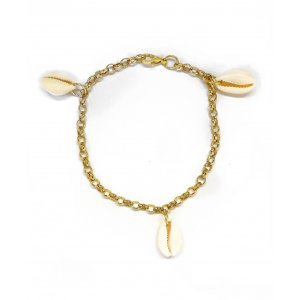 Tornozeleira Chain Coquillage Tamanho: U - Cor: Dourado