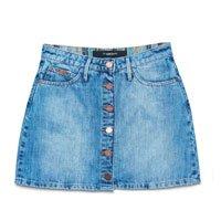 Saia Jeans Curta com Botões - Tam: 36 / Cor: BLUE