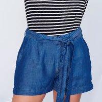 Shorts Jeans de Alfaiataria - Tam: 34 / Cor: BLUE