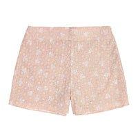 Shorts Estampado Em Tecido Laise De Algodão